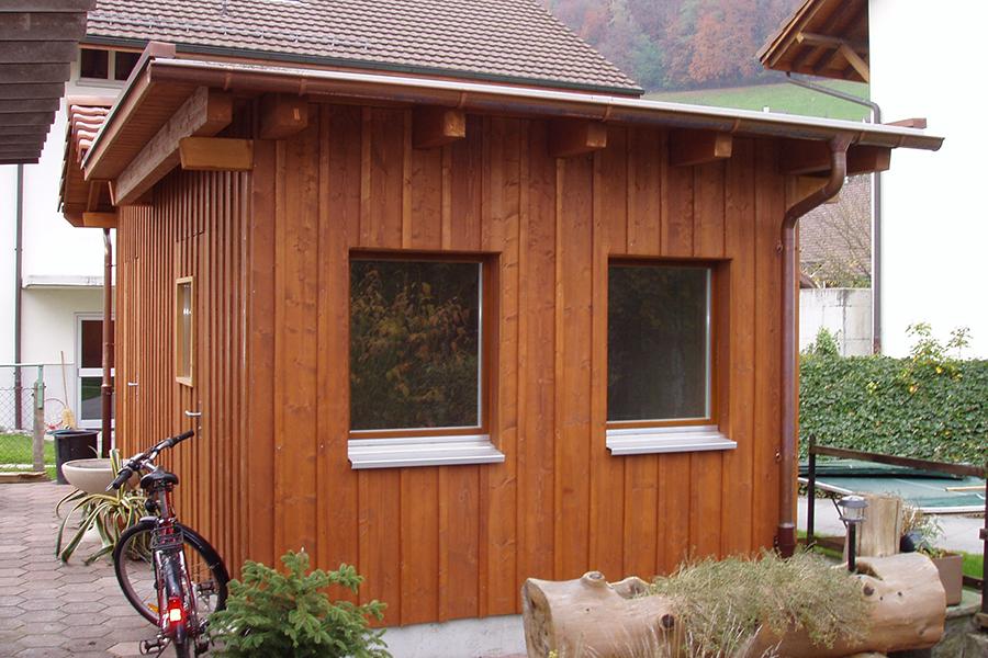 Holzbau Unterstand kilian friederich