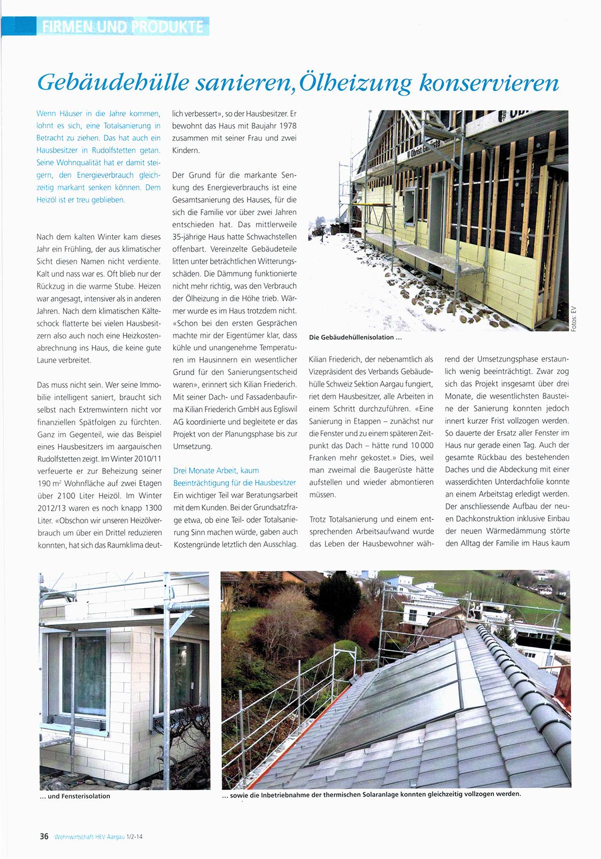 Gebäudehüllen sanieren, Ölheizung konservieren
